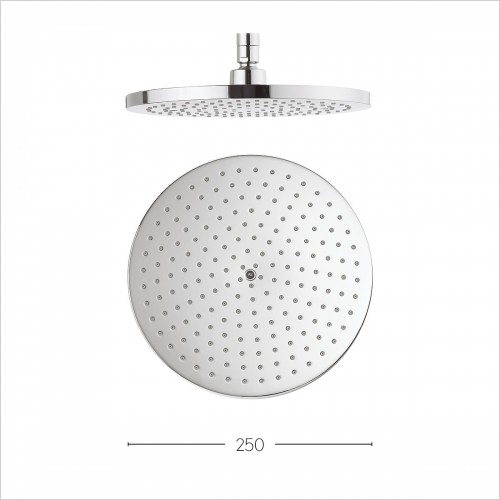 Crosswater Showers - Central 250mm Fixed Head Brass