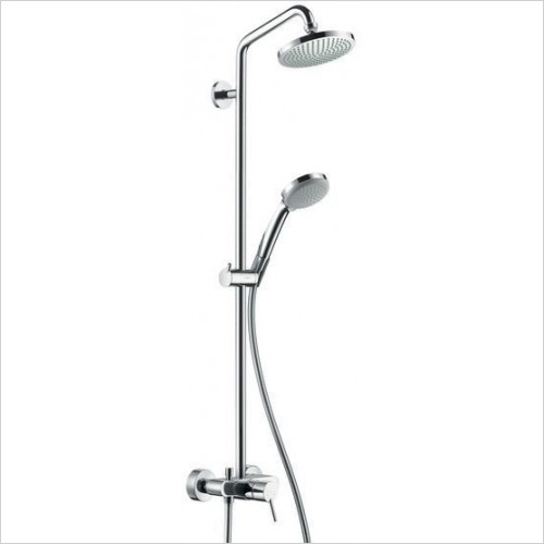 Hansgrohe Showers - Croma 100 Overhead Shower pipe Inc. Single Lever Mixer