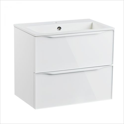 Roper Rhodes Furniture - Frame 600mm Wall Mounted Double Drawer Basin Unit