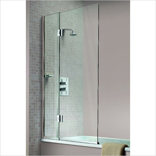 Matki Shower Enclosures - Hinged Bath Screen 900mm RH GG