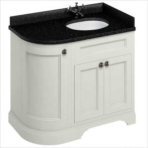 Burlington Furniture - Freestanding 100 Curved Corner Vanity Unit RH