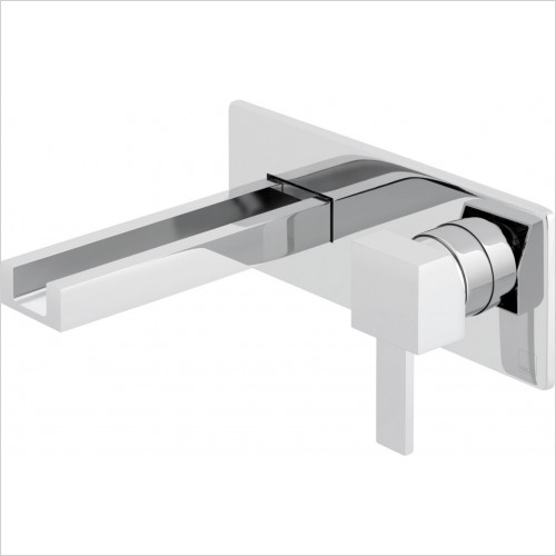 VADO Taps - Té Falls 2 Hole Basin Mixer With Waterfall Spout