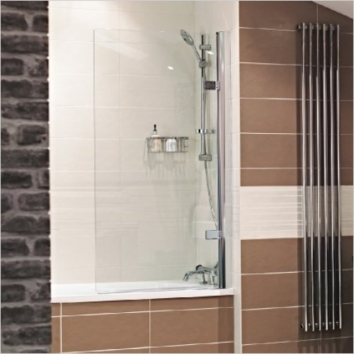 Roman Shower Enclosures - Lumin8 Hinged Bath Screen RH