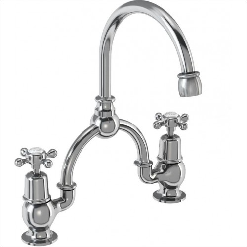 Burlington Taps - Claremont Bridge Basin Mixer With Overflow