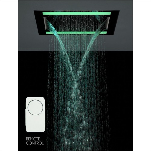 Crosswater Showers - Rio Shower Head With Lights Double Water