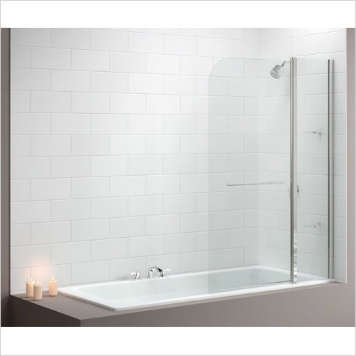 Merlyn Shower Enclosures - Vivid Bath Screen 1150 x 1500mm Curved 2 Panel