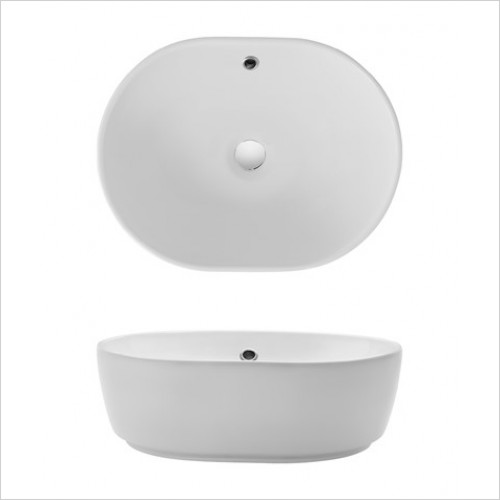 Crosswater Basins - Pearl Counter Basin 450 x 350 x 150mm With Overflow