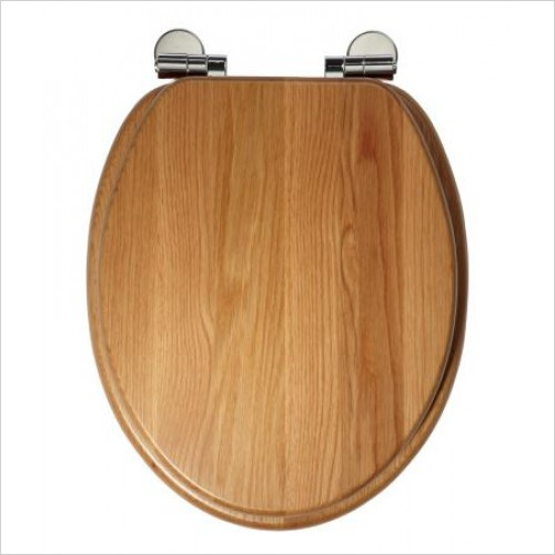 Roper Rhodes Toilet Seats - Traditional Soft Close Toilet Seat - Solid Natural Oak