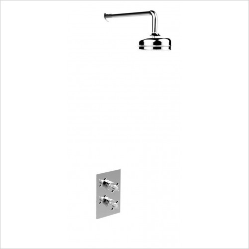 Heritage Showers - Dawlish Dual Control Recessed Valve With Fixed Head