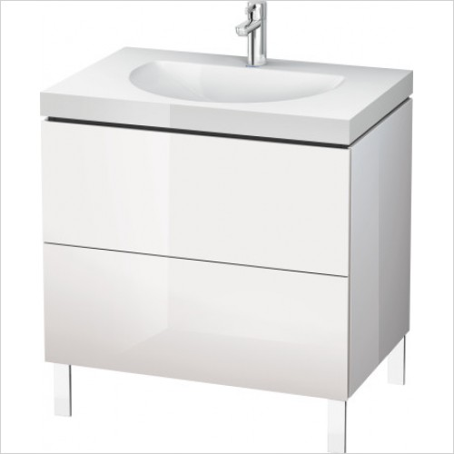 Duravit Furniture - L Cube Vanity Unit C-Bonded Freestanding, 800, 2 Drawer, O