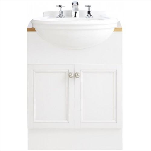 Heritage Basins - Claverton Semi Recessed Basin 2TH