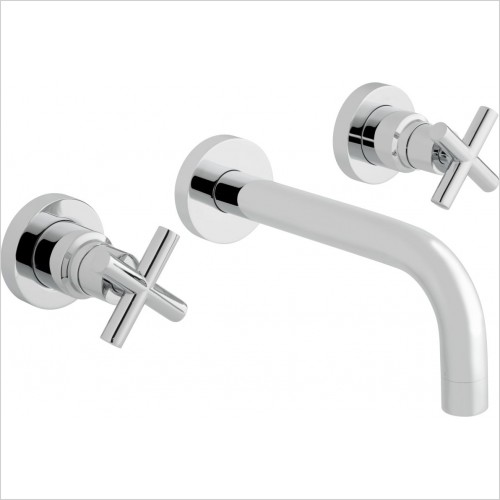 VADO Taps - Elements Water 3 Hole Bath Filler With 200mm Spout