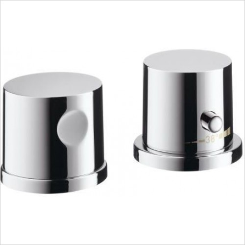 Axor Taps - Uno 2-Hole Rim-Mounted Thermostatic Bath Mixer