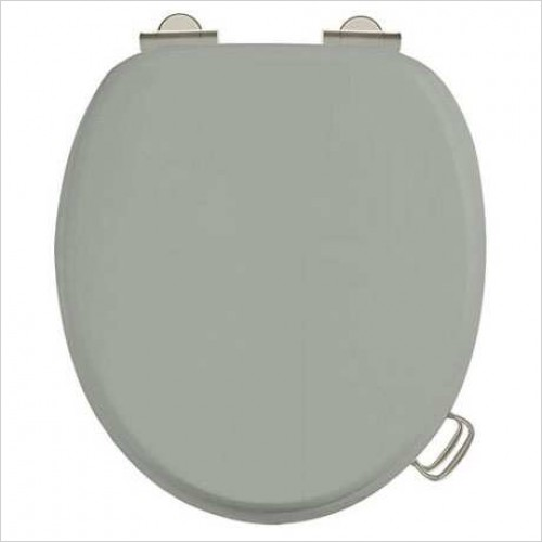 Soft Close Toilet Seat With Chrome Finish Hinges