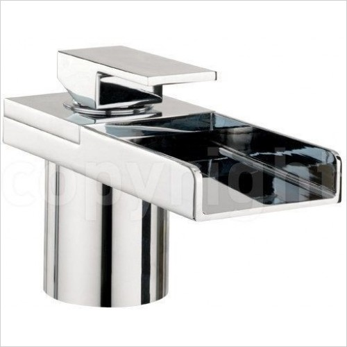 Crosswater Taps - Water Square Bath Filler Mono With Lights, Deck Mounted
