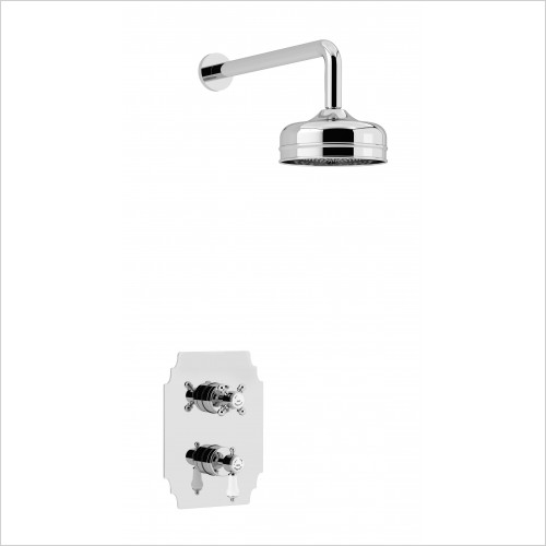 Heritage Showers - Glastonbury Recessed Shower Fixed Head Kit - Chrome