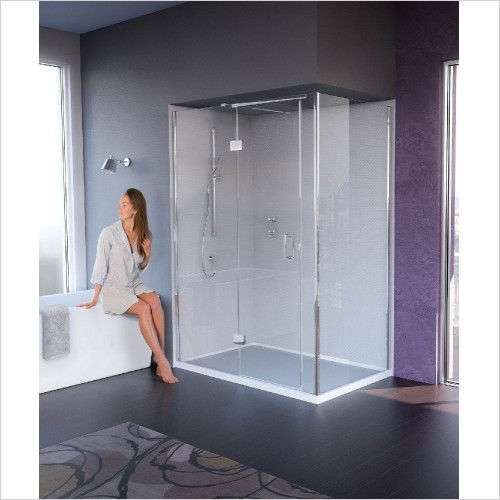 Matki Shower Enclosures - Illusion Corner & Side 1500 x 800mm Left Hand GG