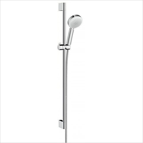 Hansgrohe Showers - Crometta 100 1 Jet Unica Shower Arm Head Set 90cm
