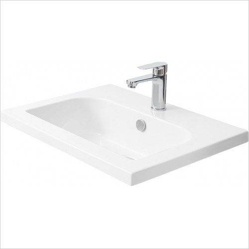 Miller Optional Accessories - London/New York Basin D Shaped For 588/288 Vanity 61cm