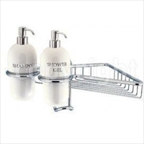 Crosswater Accessories - Solo Wire Basket Single With Dispensers