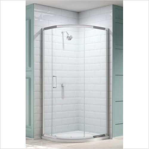 Merlyn Shower Enclosures - 8 Series 1 Door Quad 900mm Incl MStone Tray
