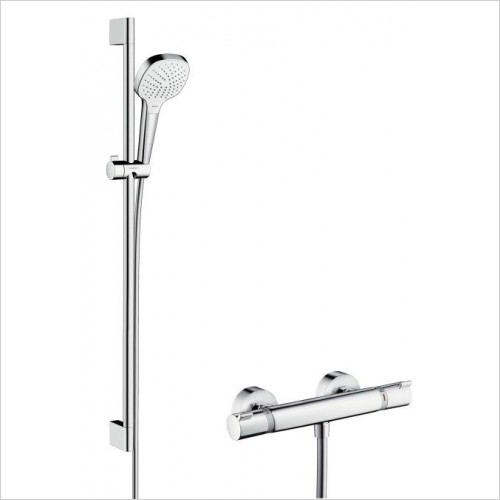 Hansgrohe Showers - Croma Select E Vario Showering Set and Themo Valve 900mm