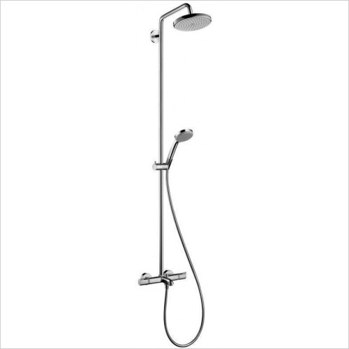 Hansgrohe Showers - Croma 220 Showerpipe For Bath Tub With Shower Arm