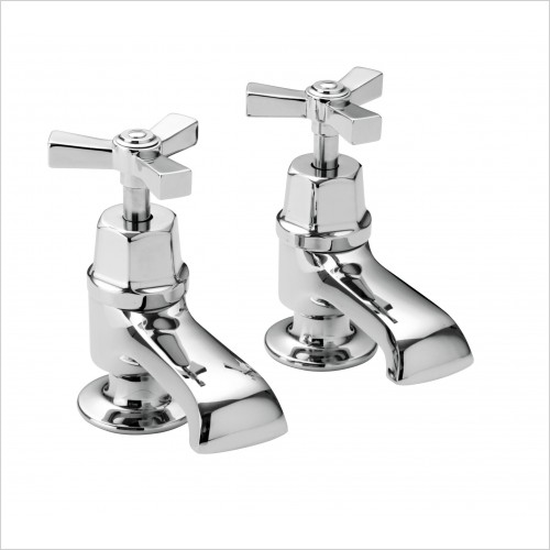 Heritage Taps - Gracechurch Deco Bath Taps in Chrome