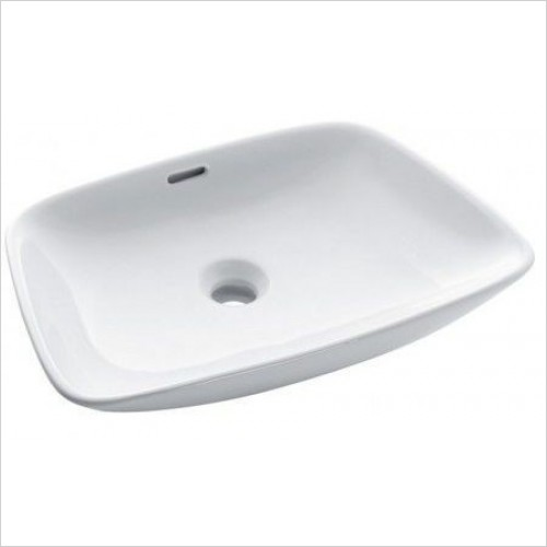 Bauhaus Basins - Anabel Counter Basin With Overflow 500mm