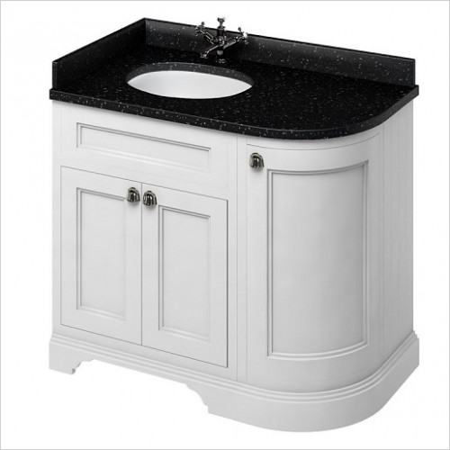 Burlington Furniture - Freestanding 100 Curved Corner Vanity Unit LH