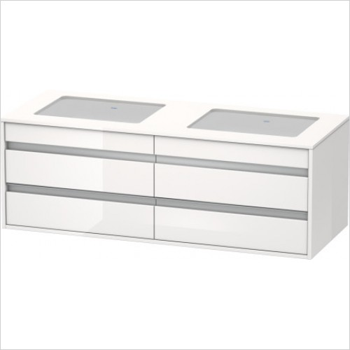 Duravit Furniture - Ketho Vanity Unit 550x1400mm for Two Basins