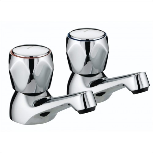 Bristan Taps - Club Basin Taps With Metal Heads