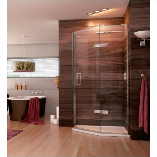 Matki Shower Enclosures - Quintesse Design With Hinged Door 900 x 900mm