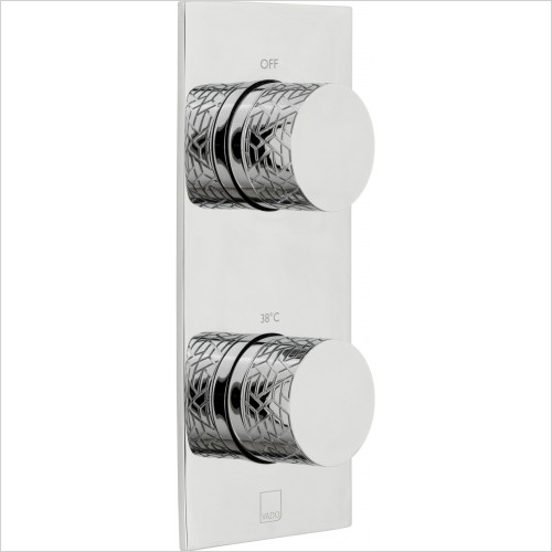 VADO Showers - Omika 1 Outlet 2 Handle Vertical Tablet Thermostatic Valve