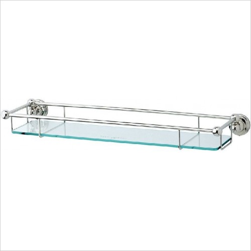 Perrin and Rowe Accessories - Traditional 20'' Glass Shelf
