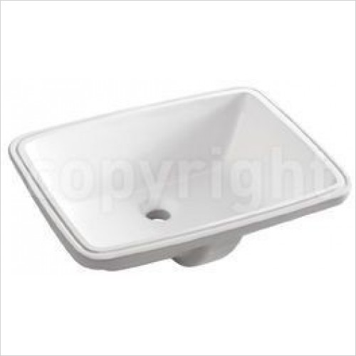 Crosswater Basins - Torino B Hidden Basin With Overflow 510mm