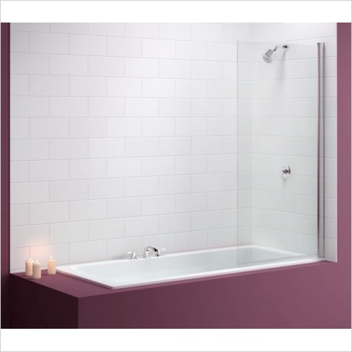 Merlyn Shower Enclosures - Single Square Bath Screen 800 x 1500mm