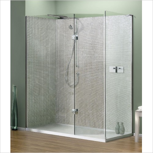 Matki Shower Enclosures - Boutique Corner, Side, Raised Tray & Mixer 1200 x 900mm Left