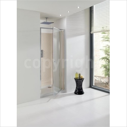 Crosswater Shower Enclosures - Edge Pivot Door 700mm