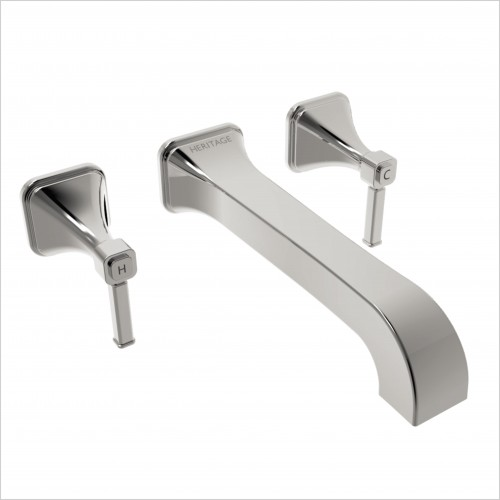 Heritage Taps - Somersby Wall Mounted Bathroom Basin Mixer