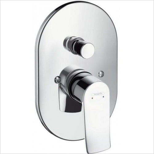 Hansgrohe Taps - Metris Bath Mixer Concealed Finish Set Export