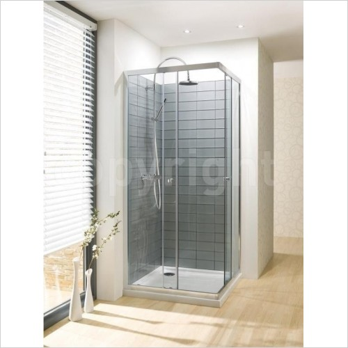Simpsons Shower Enclosures - Edge Corner Entry 760mm