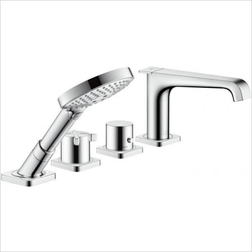 Axor Showers - Citterio E 4-Hole Thermostatic Rim Bath Mixer