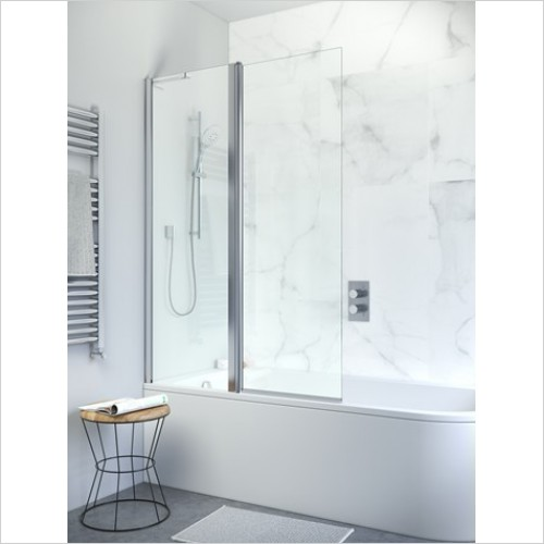 Crosswater Shower Enclosures - Design+ Double Bath Screen (Version 2)
