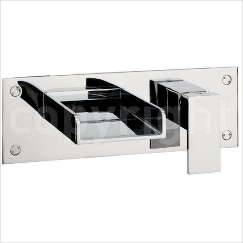 Crosswater Taps - Water Square Bath 2 Hole Filler, Wall Mounted