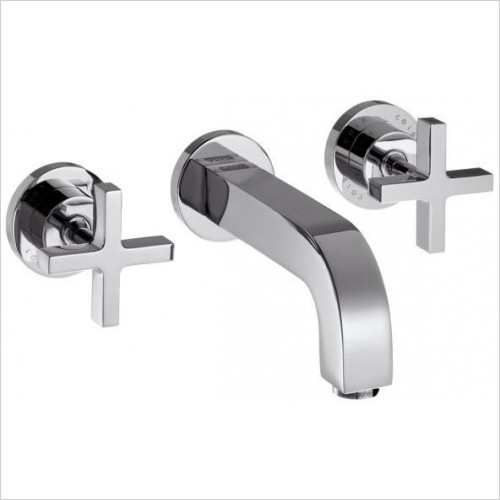 Axor Taps - Citterio 3-Hole Basin Mixer With Cross Head Handles