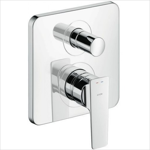 Axor Showers - Citterio E Single Lever Bath Mixer, Lever, Conc, Safety
