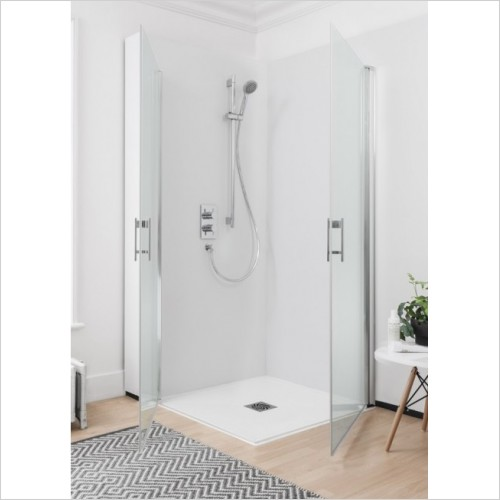 Simpsons Shower Enclosures - Click Easy Access Double Hinged Door 900mm