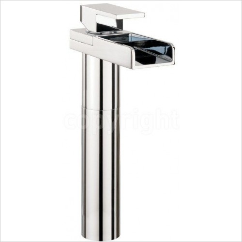 Crosswater Taps - Water Square Basin Tall Monobloc With Lights