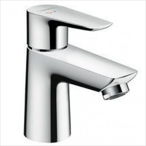 Hansgrohe Taps - Talis E Single Lever Basin Mixer 80 Coolstart, Pop-Up Waste